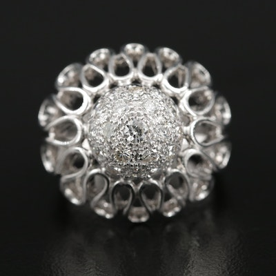 18K Diamond Dome Ring