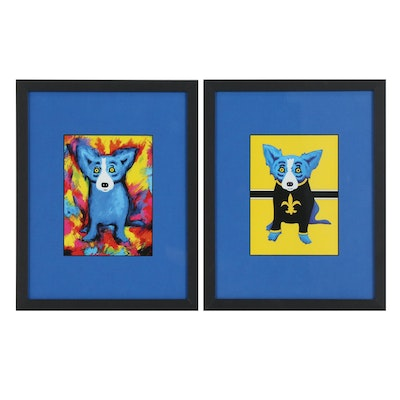 "Offset Lithographs After George Rodrigue ""Blue Dog"" Series"