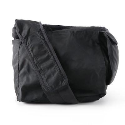 Prada Tessuto Black Nylon Drawstring Bag