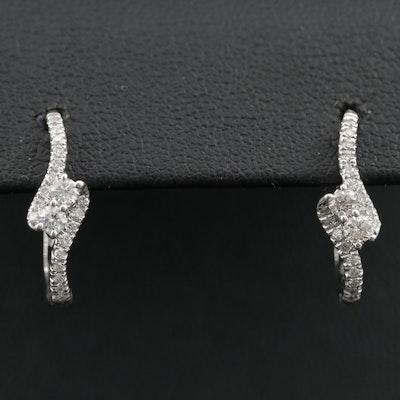 14K 0.30 CTW Diamond Bypass Style Earrings