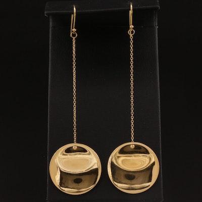 Elsa Peretti for Tiffany & Co. 18K Disc Drop Earrings
