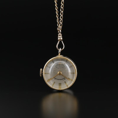Swiss Normandie Pendant Watch with Gold Filled Chain