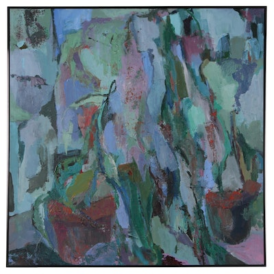 Lynne Meyers Gordon Monumental Abstract Oil Painting