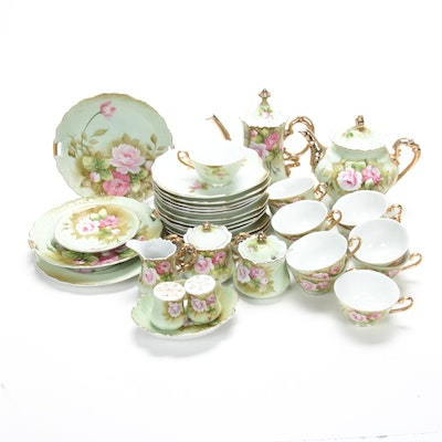 "Lefton ""Heritage Green"" Hand-Painted Porcelain Dinnerware"