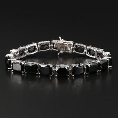 Sterling Silver Tourmaline Line Bracelet