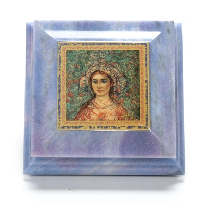 Edna Hibel Marble Trinket Box