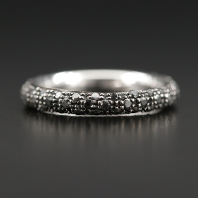 18K Black Diamond Eternity Band