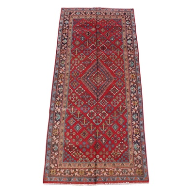 4'4 x 10'2 Hand-Knotted Persian Josheghan Wool Long Rug