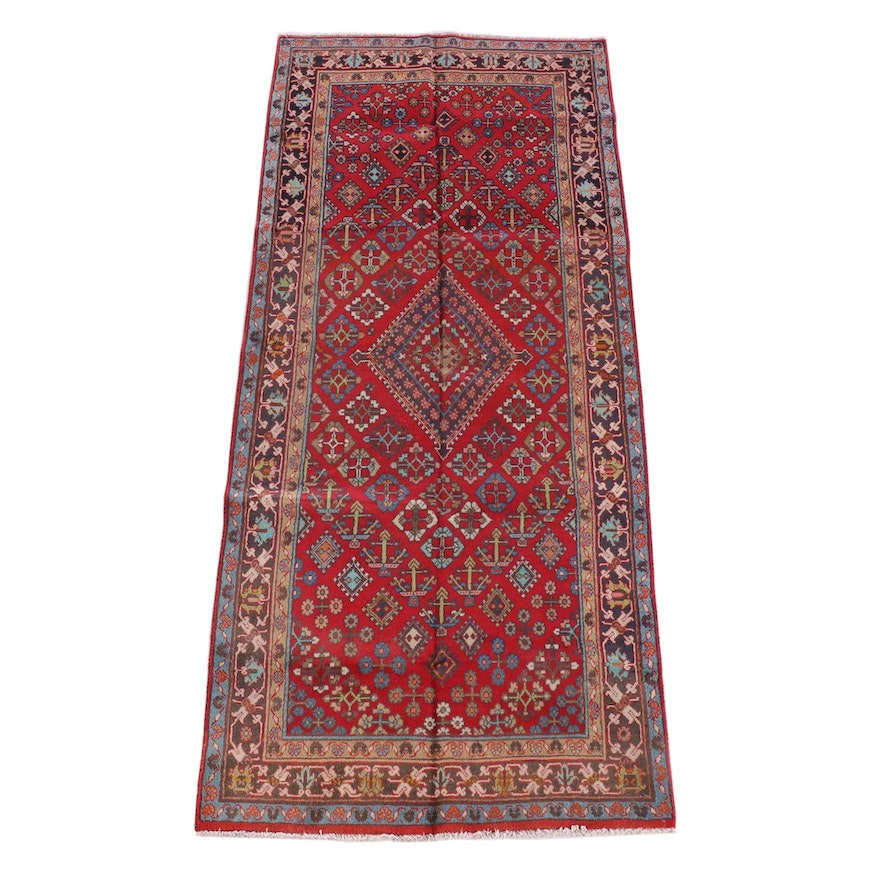 4'4 x 10'2 Hand-Knotted Persian Josheghan Wool Long Rug