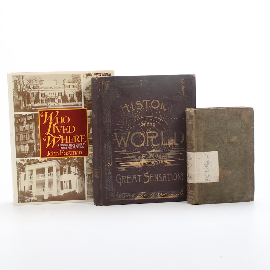 Landmarks, History and Travel Books, Vintage and Antique
