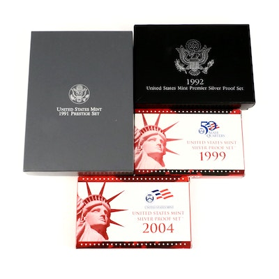 US Mint Silver Proof and Prestige Coin Sets