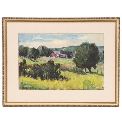 Alta Salisbury Landscape Watercolor Painting