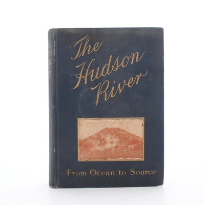"1903 ""The Hudson River"" by Edgar Mayhew Bacon with Map"