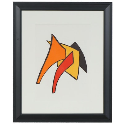 "Alexander Calder Color Lithograph for ""Derrière le Miroir"", 1963"