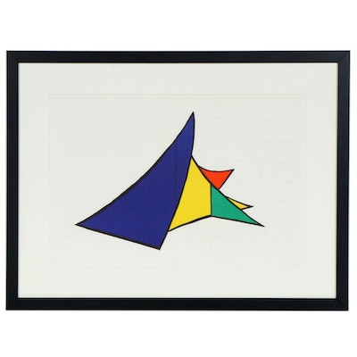 "Alexander Calder Double-Page Color Lithograph for ""Derrière le Miroir"", 1963"