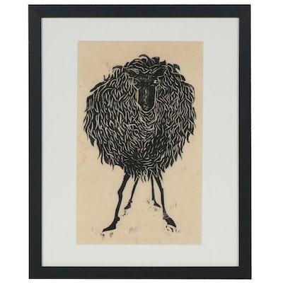 Woodcut of a Sheep