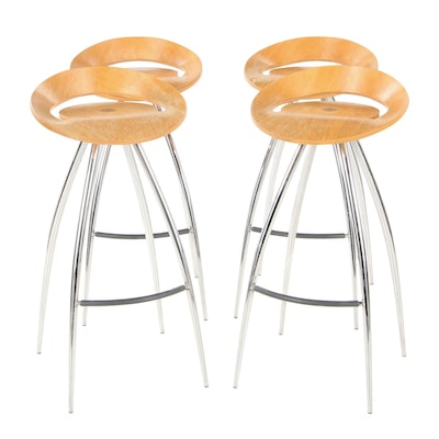 Set of Four Lyra Barstools