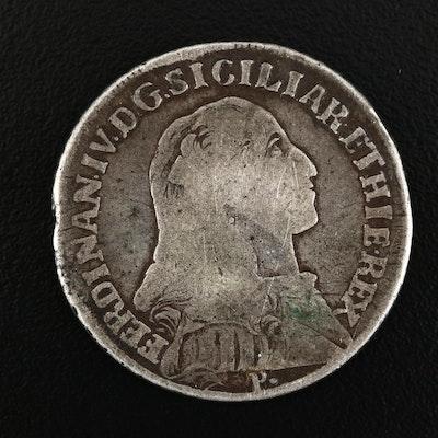 1794 Kingdom of Naples (Italian States) 60 Grana Silver Coin