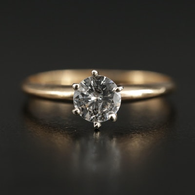 14K 0.60 CT Diamond Solitaire Ring