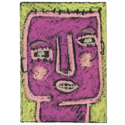 Merle Rosen Abstract Pastel Portrait, 2003
