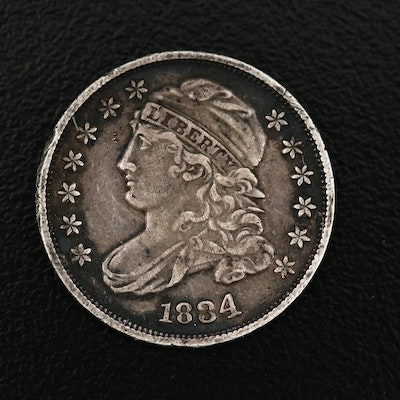 High Grade 1834 Capped Bust Silver Dime