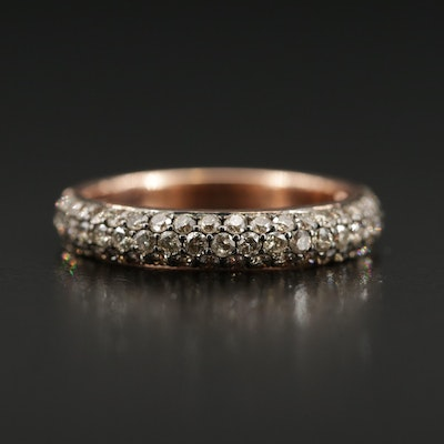 14K Rose Gold 1.00 CTW Diamond Band