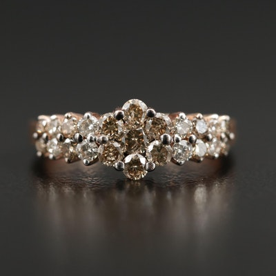14K Rose Gold 0.88 CTW Diamond Ring