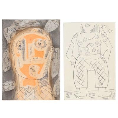Merle Rosen Abstract Mixed Media Portraits