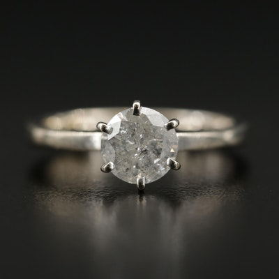 14K 1.00 CT Diamond Solitaire Ring