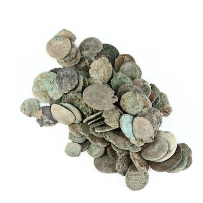 Uncleaned Ancient Roman Coins