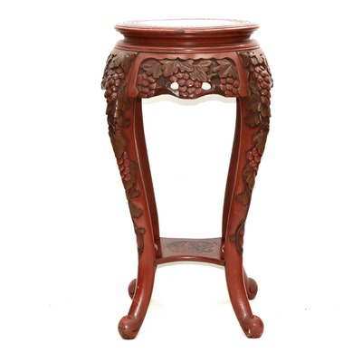Chinese Style Paint-Decorated Lacquered Wood  Accent Table