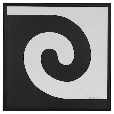 "Patt Vaccaro Acrylic Painting ""Equivocal"", 1966"