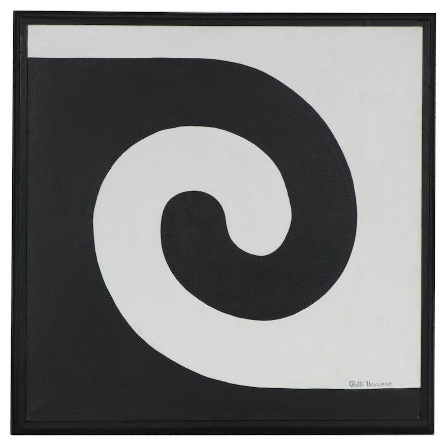 "Patt Vaccaro Acrylic Painting ""Equivocal"", 1966"