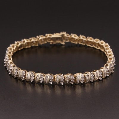 10K Gold 1.00 CTW Diamond Bracelet