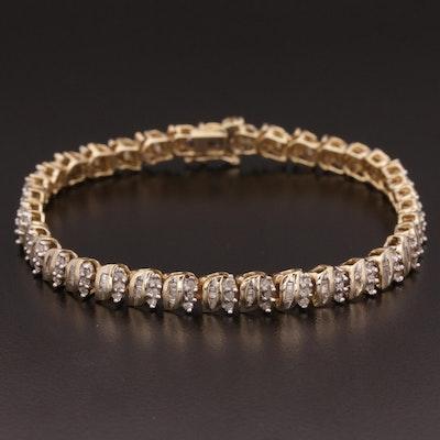 10K Gold 1.00 CTW Diamond Bracelet