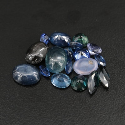 Loose 17.25 CTW Mixed Cut Sapphires