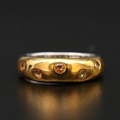 Sterling Sapphire Gypsy Ring