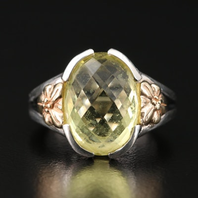 Samuel B. Benham Sterling Silver and 14K Gold Citrine Ring