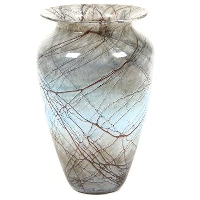 Michael Nourot Art Glass Vase, 1989
