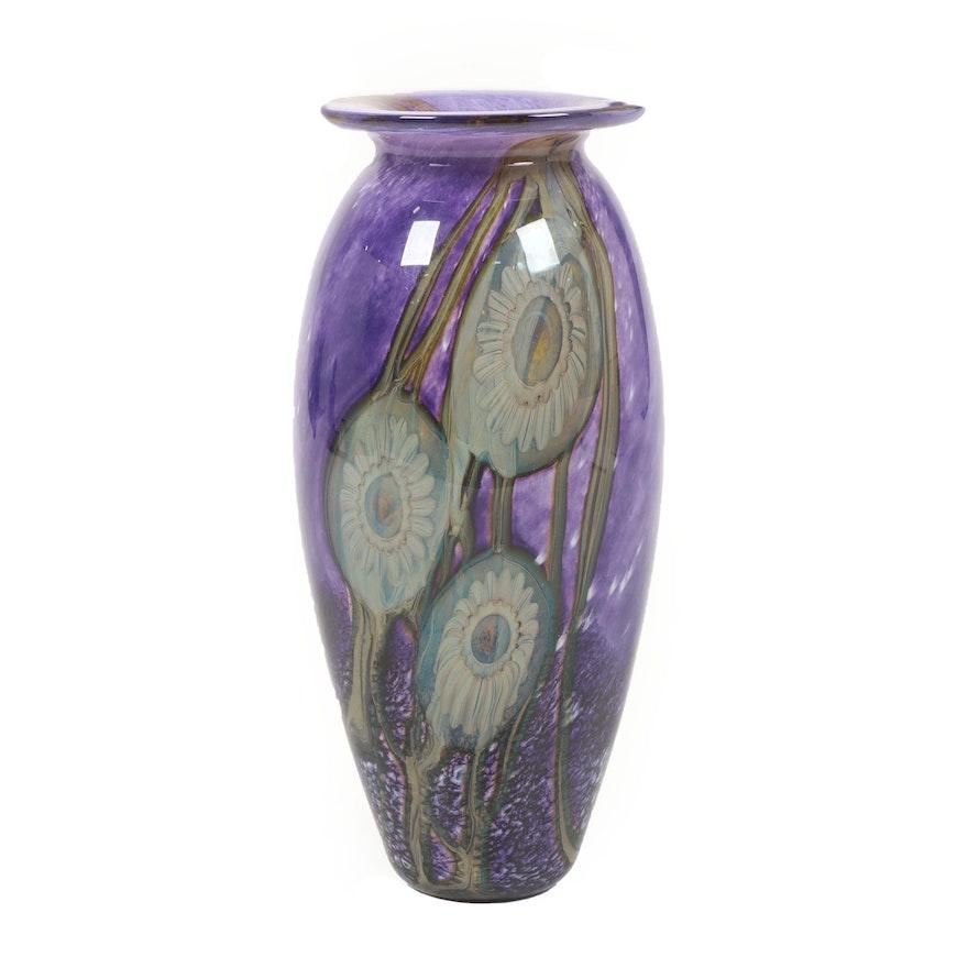 """Robert Eickholt """"Deep Sea"""" Handblown Art Glass Vase, 2011"""