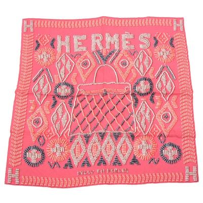 """Hermès """"Kelly en Perles"""" Silk Scarf"""
