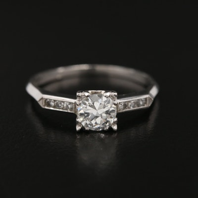 Platinum 0.56 CTW Diamond Ring