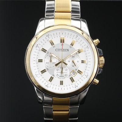 Citizen Chronograph Two Tone Quartz Wristwatch