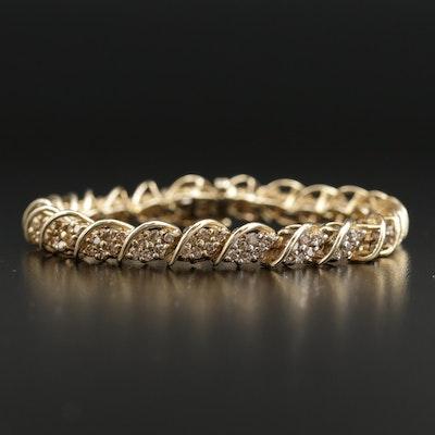 10K 4.02 CTW Diamond Link Bracelet
