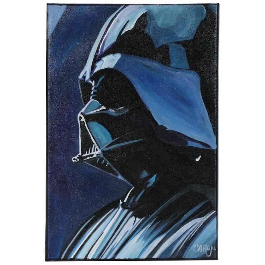 Chris Cargill Acrylic Painting of Darth Vader