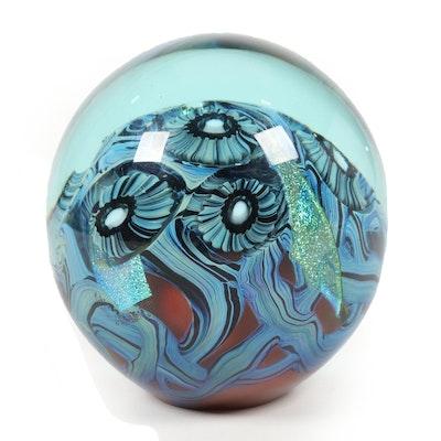 Robert Eickholt Handblown Art Glass Paperweight