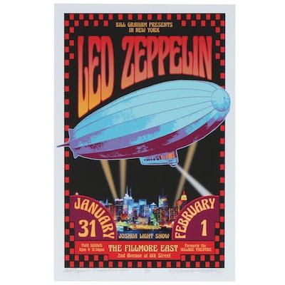 "David Edward Byrd Giclée ""Led Zeppelin at the Fillmore East 1969"", 2020"