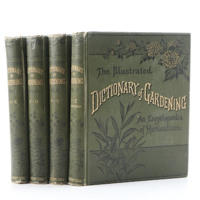 """1889 """"The Illustrated Dictionary of Gardening"""" Edited by George Nicholson"""