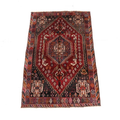 5'3 x 8'9 Hand-Knotted Persian Qashqai Wool Rug