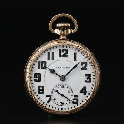 1930 Hamilton 10K Gold Filled Railroad Grade Pocket Watch